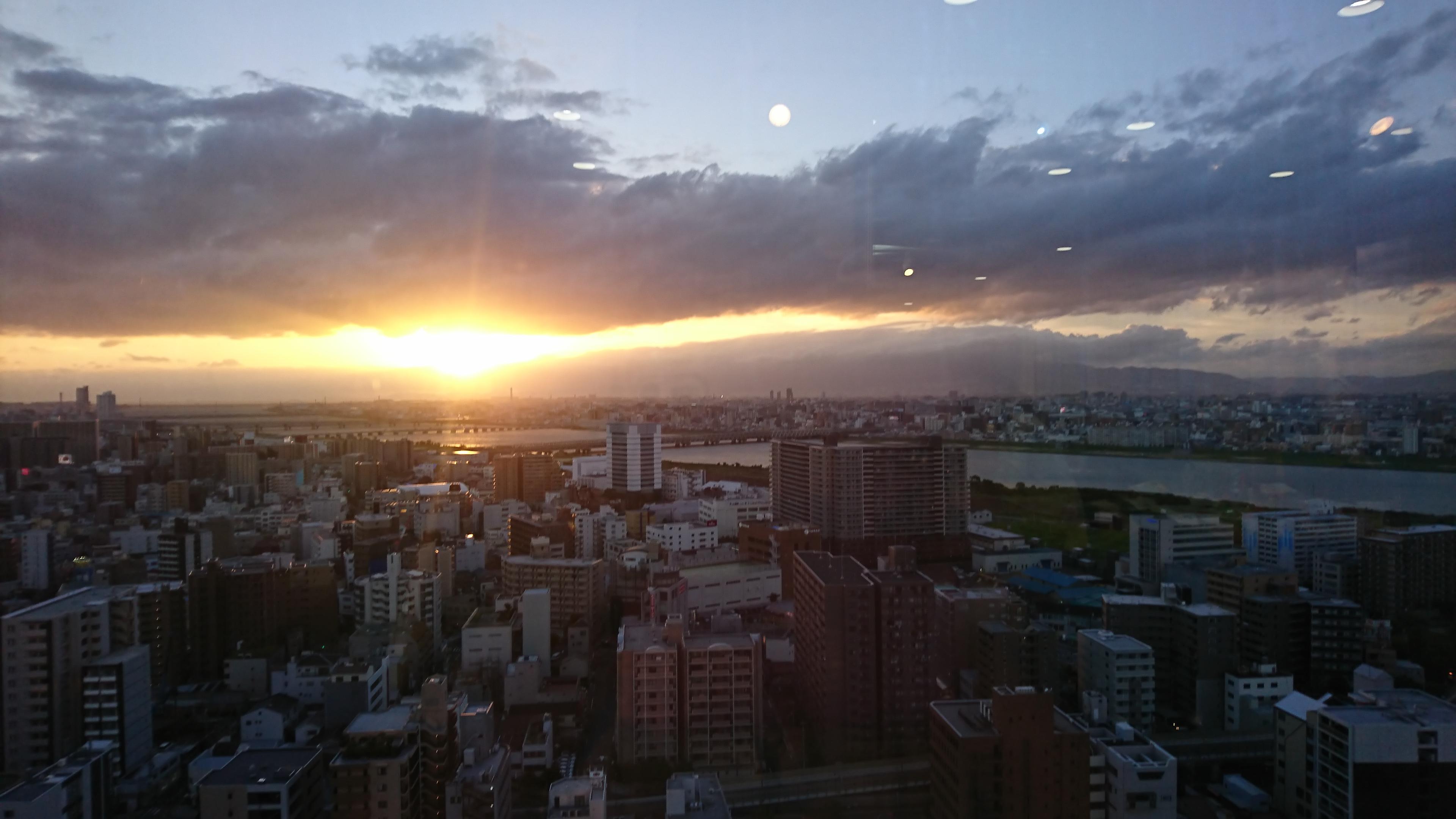 梅田の夕焼け