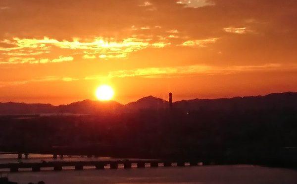 梅田の夕日