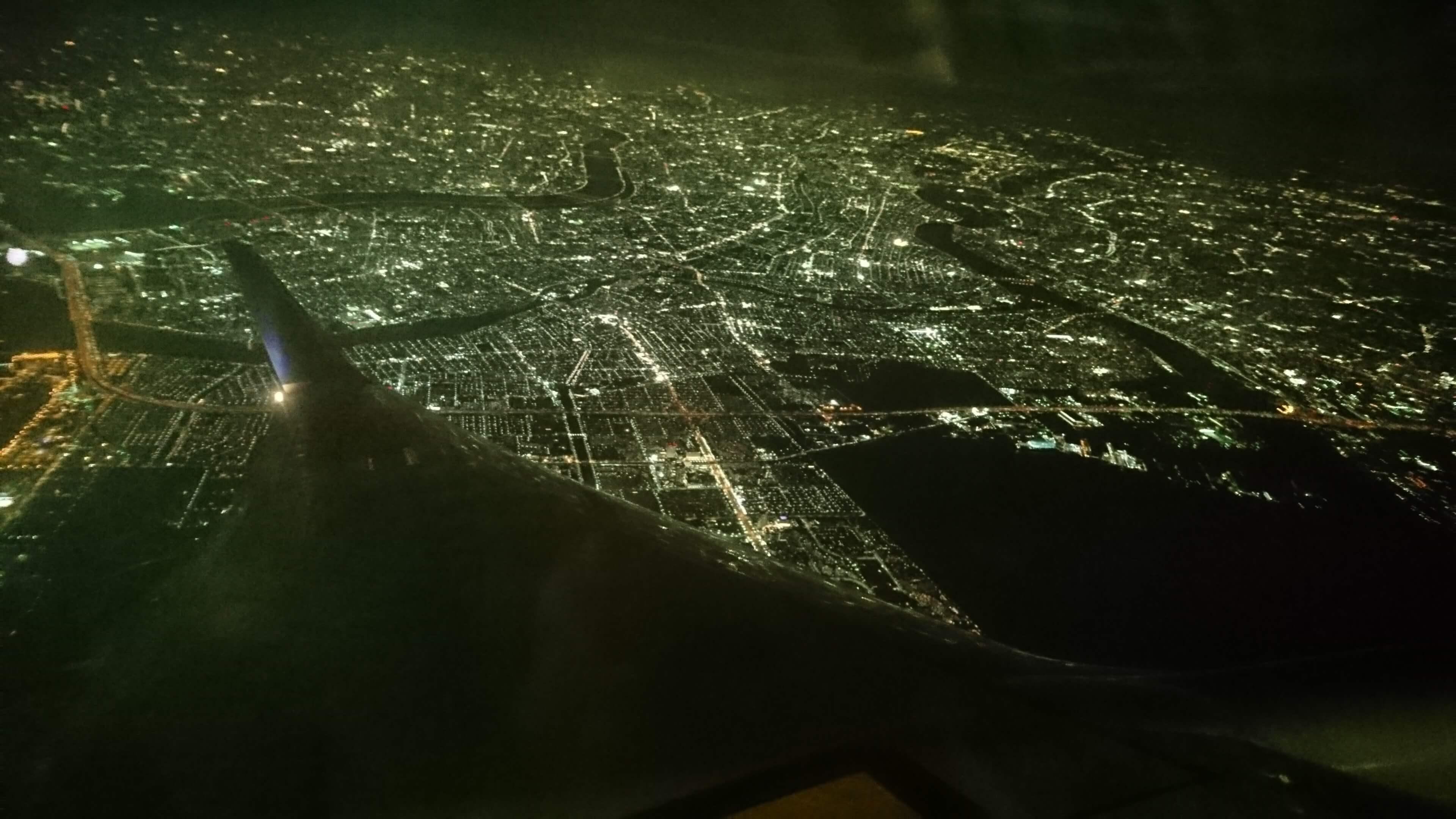 上空からの夜景
